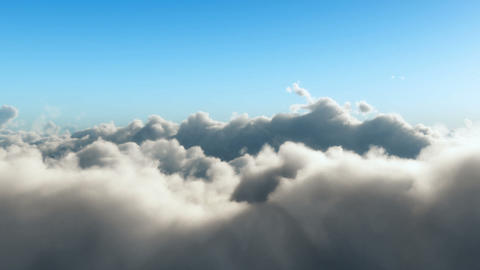 Realistic flight through the clouds Animation