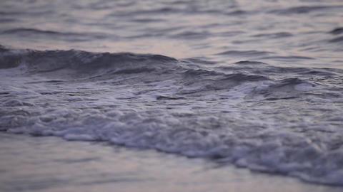 Water Surface Of Sea Wave,in Tsuruoka,Yamagata,Jap stock footage