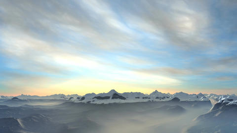 Dawn in mountains Animation
