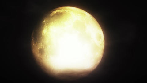 Full Moon 3 D Animation 4 strong highlights h 264 Stock Video Footage
