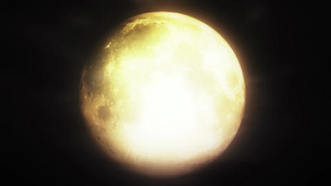 Full Moon 3 D Animation 4 strong highlights h 264 Animation