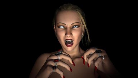 Vampire - Sleeping Beauty - Loop - Alpha Stock Video Footage