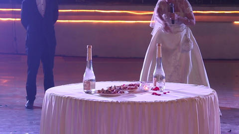 bride tells people rules of russian national game  Footage