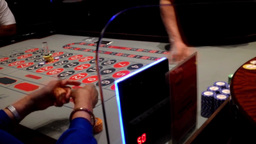 People playing roulette inside starlight casino Footage