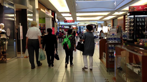 One side of shopping mall in Burnaby BC Canada Footage
