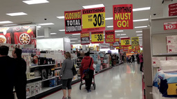 People shopping inside Target store for closing sa Footage