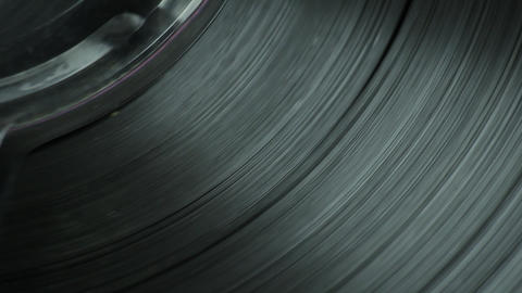 1080p Ungraded: Reel Tape Slowly Spinning Live Action