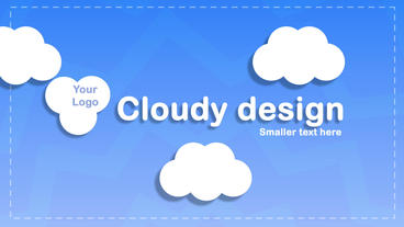 cloudy design logo and text After Effects Template