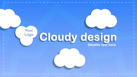 cloudy design logo and text