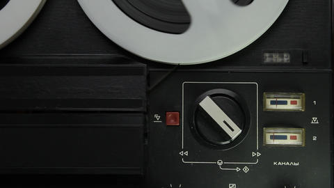 1080p Ungraded: Analog VU-meters of Reel-To-Reel Tape Recorder Footage