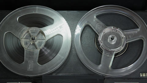 1080p Ungraded: Reel-To-Reel Tape Recorder Playing Tape Footage