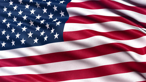 4K Flag of USA seamless loop Ultra-HD Animation