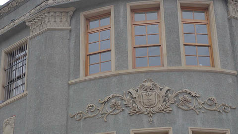 Close Up Detail Of The Colonial Architecture Of A  stock footage
