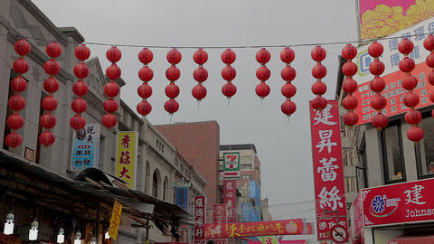 daytime - Chinese new year red lanterns ningxia ni Footage