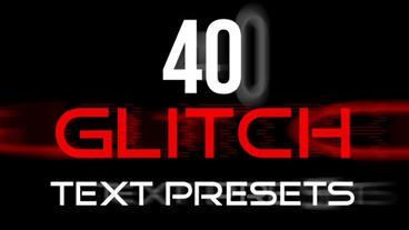 Glitch Text FFX Presets After Effects Project