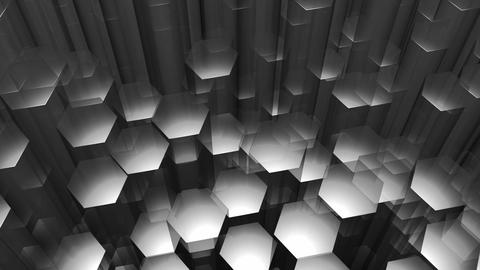 gray hexagonal edge Animation