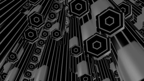 white hexa tubes Animation