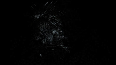 4k accident impact traces,broken cracked damaged glass,boxing hit ice windows Live Action