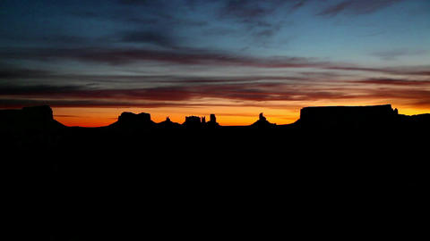 Sunrise Arizona Monument Valley Navajo Tribal Park Footage