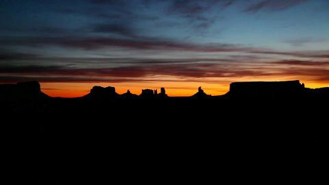 Sunrise Arizona Monument Valley Navajo Tribal Park Footage