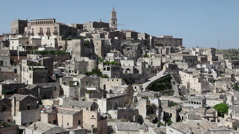 View Of Matera Old City In Basilicata Southern Ita stock footage