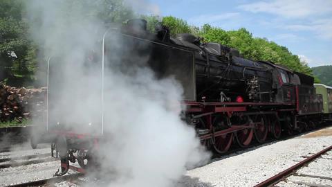 Steam train smoking Footage