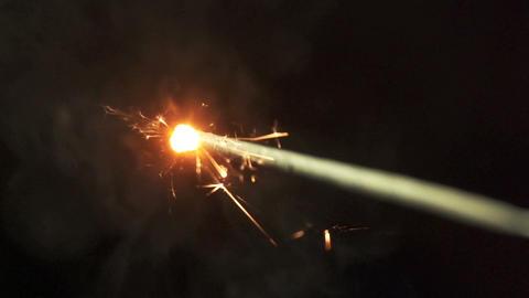 Slow motion of sparkler Footage
