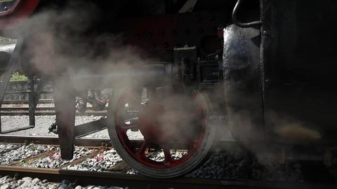steam train closeup Footage