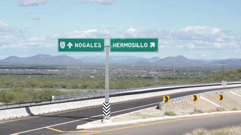 Hermosillo Mexico and Nogales USA Turnoff Footage