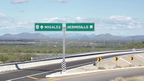 Hermosillo Mexico and Nogales USA Turnoff Footage