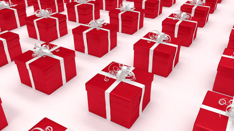 Red gift boxes. (loop-ready file) Animation