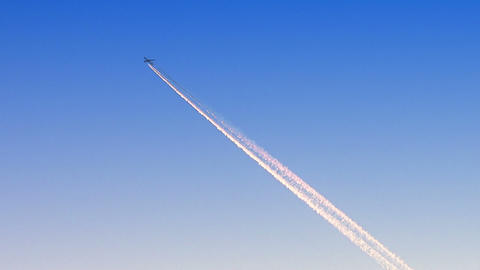 Airplane Flying At High Flight Level stock footage