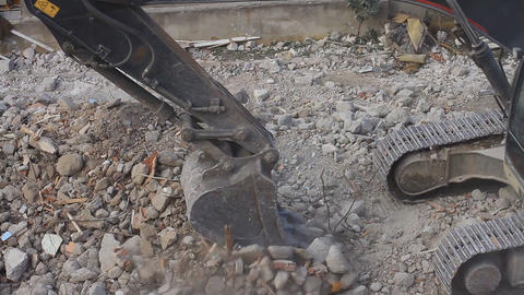 Buldozer arm working in the construction site Footage