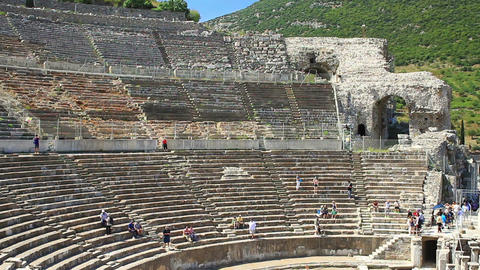 Great Theater, Largest In Anatolia And Has The Cap stock footage