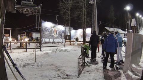 Lift to the ski slopes Footage