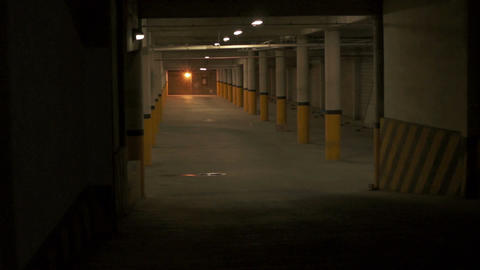 Parking Underground Entrance Zoom stock footage