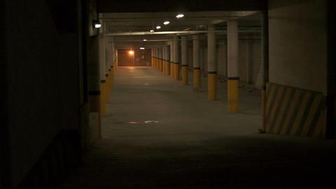Parking Underground Entrance Zoom stock footage