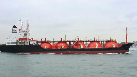 Tanker ship designed for liquefied petroleum gas t Footage