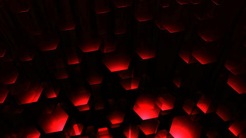 red hexagonal tube Animation