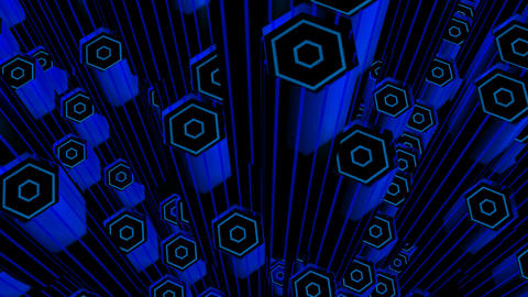 blue hexa tubes Animation