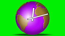 WORLD ROTATES,TIME PASSES Stock Video Footage