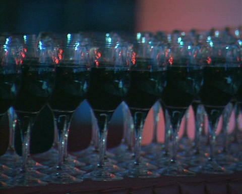 wine glasses Stock Video Footage