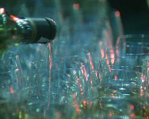 bottle with glasses Stock Video Footage