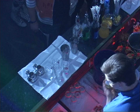 barmen nightclub Stock Video Footage