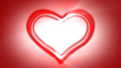 Heart Loop Neon 02 Stock Video Footage