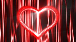 Heart Loop Neon 04 Stock Video Footage