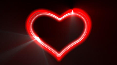 Heart Loop Neon Alpha Animation