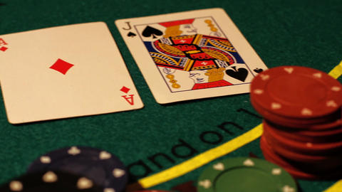 Poker 02 pan right Stock Video Footage
