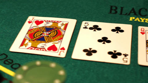 Poker 04 royal pan left Stock Video Footage