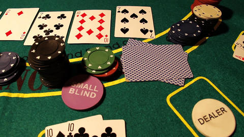 Poker 11 dolly left Stock Video Footage